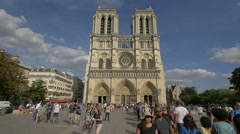 Visiting the Notre-Dame Cathedral in Paris Stock Footage