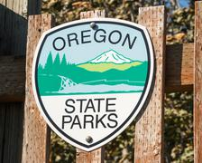 Oregon State Parks Sign Stock Photos