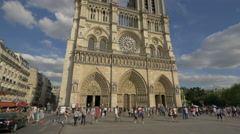 Visiting the Notre-Dame de Paris Stock Footage