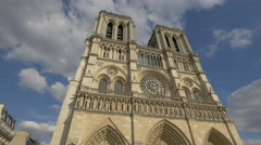 Incredible view of Notre-Dame Cathedral in Paris Stock Footage