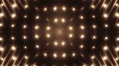 Fractal orange kaleidoscopic background. - stock footage