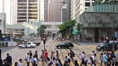 Hong Kong crossing Stock Footage