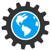 Earth Engineering Icon - stock illustration
