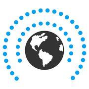Earth Sphere Shield Icon Stock Illustration