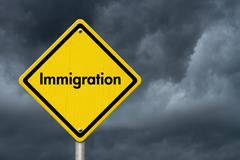 Immigration Road Sign - stock photo