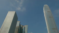 Hong Kong Financial and commercial Centre Skyline Stock Footage