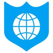 Global Shield Icon Stock Illustration