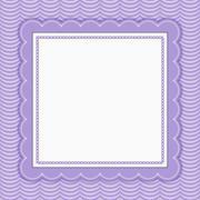 Purple Wavy Stripes Frame Background Stock Illustration