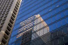 Reflection Central Business FInancialCentre Hong Kong - stock photo
