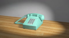Classic push button telephone - stock footage