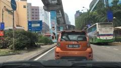Time lapse of driving through Bukit Bintang Street, Kuala Lumpur Stock Footage