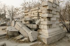 The Old Summer Palace (Ruins of Yuanmingyuan) - stock photo