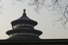 Temple of Heaven Tiantan imperial complex of religious Beijing China Asia Stock Photos