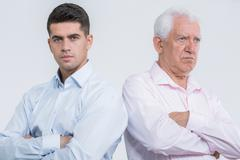 Argument between son and father Stock Photos