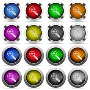 Zoom in button set Stock Illustration