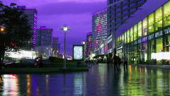 Festive illumination on the day of the city of Moscow - stock footage