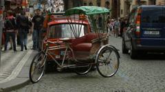 Stock Video Footage of Small rickshaw in Prague