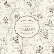 Vintage label card Stock Illustration