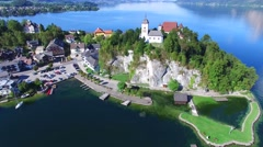 Traunsee lake Stock Footage