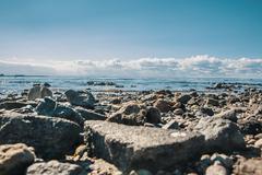 Baltic bay. Beach. Stones. Stock Photos