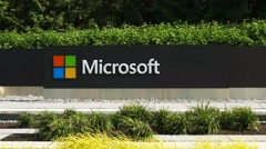 Stock Video Footage of microsoft headquaters logo