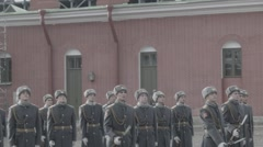 Russian Soldiers Showing Skills At Parade HD - stock footage