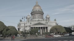 St. Isaac's Cathedral, St. Petersburg, Russia HD Stock Footage