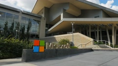 Microsoft headquaters pan Stock Footage