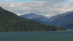 Alaskan Coastline Panoramic Rolling Landscape. - stock footage