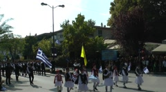 Greek parade in 28th of October.(2) Stock Footage