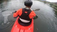 Whitewater kayaker Stock Footage
