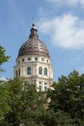 Kansas State Capitol Dome - stock photo