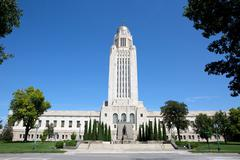 Nebraska State Capitol Building Stock Photos