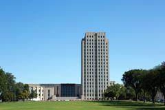 North Dakota State Capitol Building - stock photo