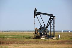 Oklahoma Oilfield Pumpjack - stock photo