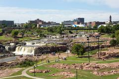 Sioux Falls Park South Dakota Skyline Stock Photos
