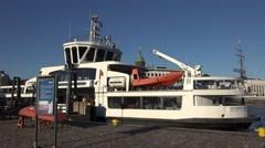 A Suomenlinea passenger ferry (in 4k & audio), Helsinki, Finland. Stock Footage