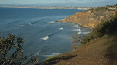 Palos Verdes coastline on the Pacific Ocean. - stock footage