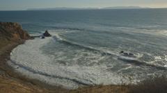 Palos Verdes coastline on the Pacific Ocean. Stock Footage