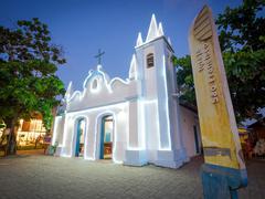 Sao Francisco Church in Praia do Forte, Bahia, Brazil Stock Photos