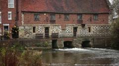 English Water Mill, Salisbury, England, UK, GB, Europe - stock footage