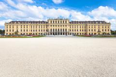 Stock Photo of Schloss Schonbrunn palace from garden, Vienna
