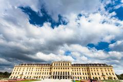 Stock Photo of rain clouds over Schloss Schonbrunn palace, Vienna