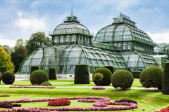 Stock Photo of Palm House Schloss Schonbrunn garden, Vienna