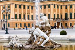 Stock Photo of fountain in Schonbrunn palace garden, Vienna