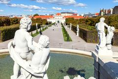Stock Photo of view of Lower Belvedere Palace from Lower Cascade