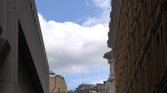 Side Street Off The Strand - London - Timelapse Stock Footage