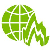 Global Fire Icon Stock Illustration