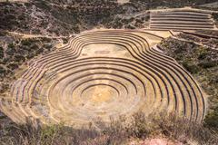 Moray, an archaeological site near Cusco, Peru - stock photo