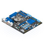 Isometric Motherboard - stock illustration